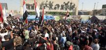 Irak'ta maaş alamayan memurlar greve gitti