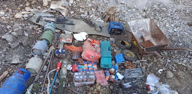 Irak'ın kuzeyinde PKK'ya ait mühimmatlar ele geçirildi!