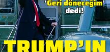 Trump'tan veda konuşması: Bir şekilde geri döneceğim