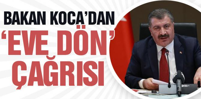 Koca'dan vatandaşlara çağrı