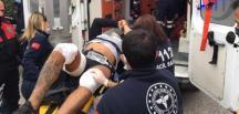 Fırsattan istifade edip polisten kaçan elleri kelepçeli şüpheli, vurularak yakalandı