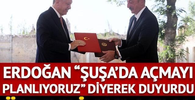 Erdoğan ve Aliyev 'Şuşa Beyannamesi'ne imza attı