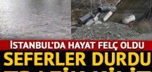 İstanbul'da tramvay seferleri durdu