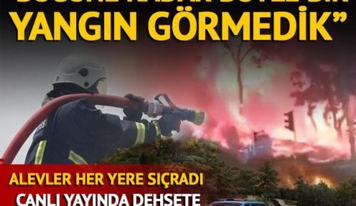 Manavgat'ta orman yangını! Yerleşim yerleri tehdit altında