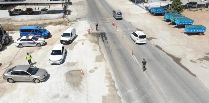 Suruç Jandarma'dan drone destekli denetim