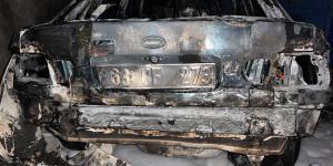 Urfa'da Elektrik Kontağından Araç Yandı