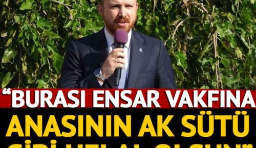 """Kocaeli'de Ensar Vakfına devredilen tarihi binanın açılış törenine konuşan Bilal Erdoğan, vakıfların hedef alınmasının bir sebebi olduğunu ve kurumların itibarsızlaştırılmasına müsaade edilmemesi gerektiğini söyledi. Bilal Erdoğan ayrıca, """"Yurt meselelerini bahane edip aynı algıları yapmaya çalışıyorlar. Biz bunlara da teslim olmayacağız. Burası Ensar Vakfına anasının ak sütü gibi helal olsun"""" dedi.  Kocaeli Büyükşehir Belediyesi tarafından Ensar Vakfı'nın devredilen tarihi Pembe Köşk bugün Bilal Erdoğan'ın katılımıyla gerçekleşti. Gerçekleştirilen açılışa Cumhurbaşkanı Erdoğan'ın oğlu Bilal Erdoğan'ın yanısıra Kocaeli Valisi Seddar Yavuz, Kocaeli Büyükşehir Belediye Başkanı Tahir Büyükakın, il protokolü, vakıf yöneticileri ve vatandaşlar katıldı."""