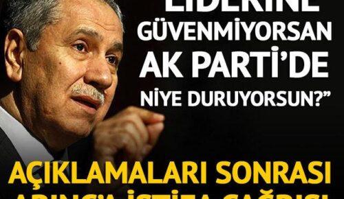 AK Partili Şamil Tayyar'dan Bülent Arınç'a 'istifa' çağrısı!
